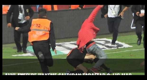 Avni Aker'de hakeme saldıran taraftar 2. Lig maçında yakalandı