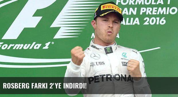 Rosberg farkı 2'ye indirdi!