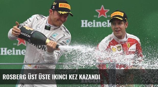 Rosberg üst üste ikinci kez kazandı