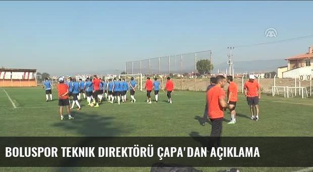 Boluspor Teknik Direktörü Çapa'dan açıklama