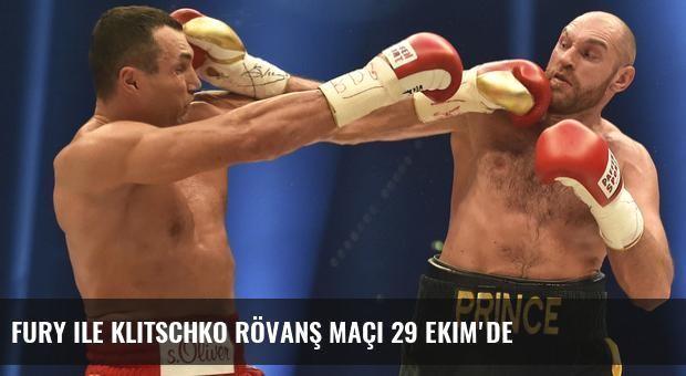 Fury ile Klitschko rövanş maçı 29 Ekim'de