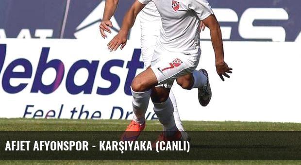 Afjet Afyonspor - Karşıyaka (Canlı)