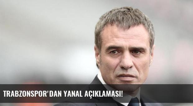 Trabzonspor'dan Yanal açıklaması!