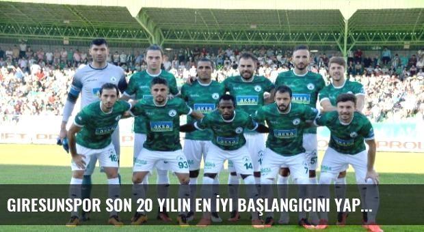Giresunspor Son 20 Yılın En İyi Başlangıcını Yaptı.