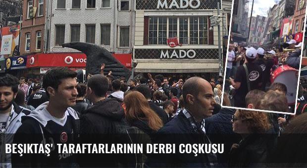 Beşiktaş' taraftarlarının derbi coşkusu