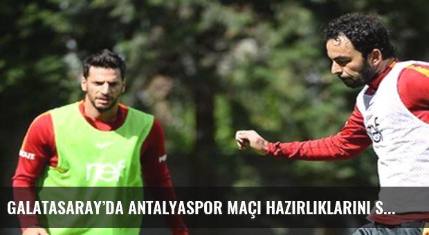 Galatasaray'da Antalyaspor maçı hazırlıklarını sürdürdü