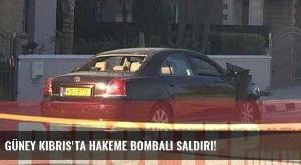 Güney Kıbrıs'ta hakeme bombalı saldırı!