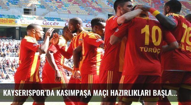 Kayserispor'da Kasımpaşa maçı hazırlıkları başladı