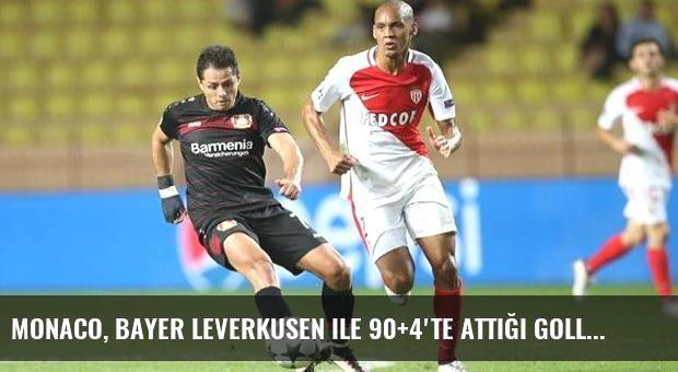 Monaco, Bayer Leverkusen ile 90+4'te Attığı Golle 1-1 Berabere Kaldı