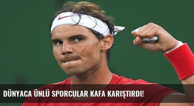 Dünyaca ünlü sporcular kafa karıştırdı!