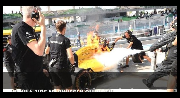 Formula 1'de Magnussen ölümden döndü!
