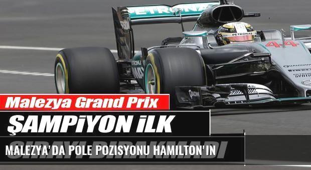 Malezya'da pole pozisyonu Hamilton'ın