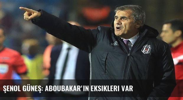Şenol Güneş: Aboubakar'ın eksikleri var