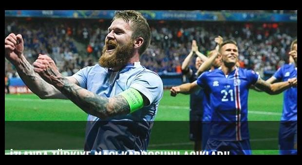 İzlanda Türkiye maçı kadrosunu açıkladı!