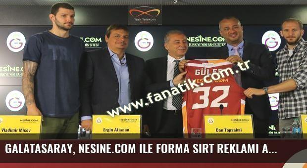 Galatasaray, Nesine.com ile forma sırt reklamı anlaşması yaptı
