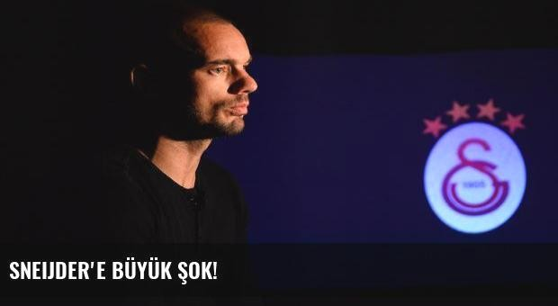 Sneijder'e büyük şok!