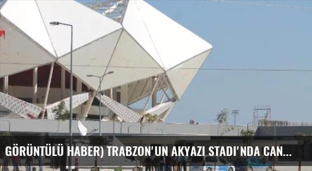 Görüntülü Haber) Trabzon'un Akyazı Stadı'nda Canlı Yayın Arbedesi