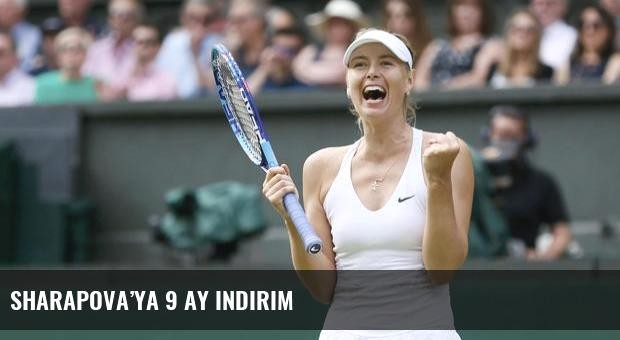 Sharapova'ya 9 ay indirim
