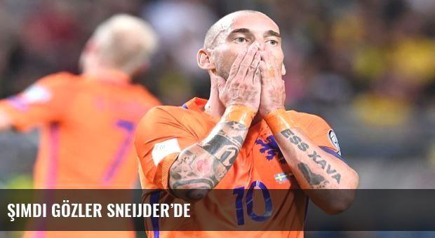 Şimdi gözler Sneijder'de