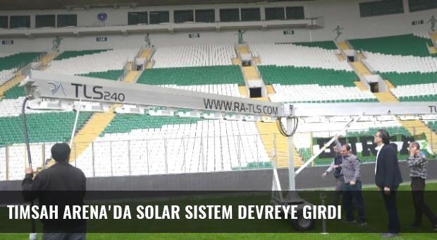 Timsah Arena'da Solar Sistem Devreye Girdi