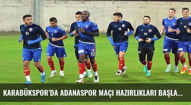 Karabükspor'da Adanaspor maçı hazırlıkları başladı