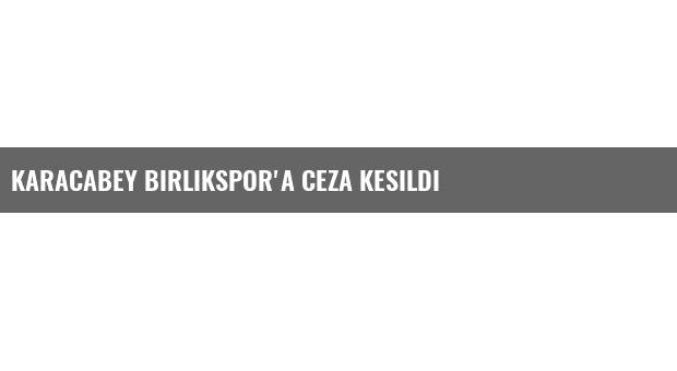 Karacabey Birlikspor'a Ceza kesildi