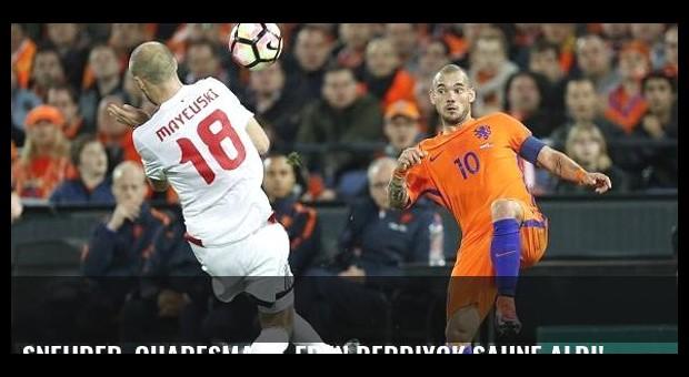 Sneijder, Quaresma ve Eren Derdiyok sahne aldı! Sonuçlar...