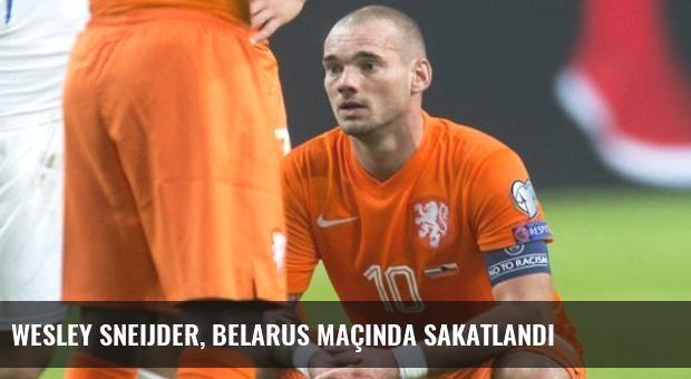 Wesley Sneijder, Belarus Maçında Sakatlandı