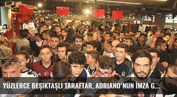 Yüzlerce Beşiktaşlı Taraftar, Adriano'nun İmza Gününe Katıldı