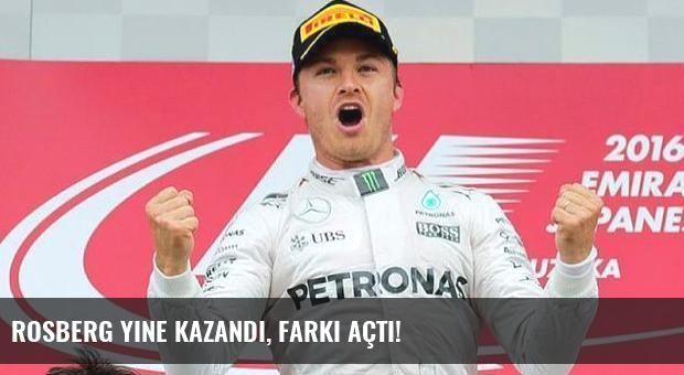 Rosberg yine kazandı, farkı açtı!