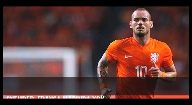 Sneijder, Fransa maçında yok