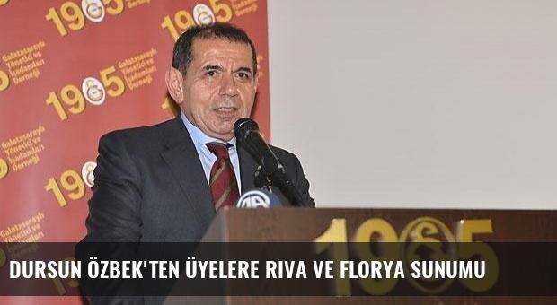 Dursun Özbek'ten üyelere Riva ve Florya sunumu