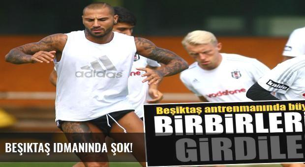 Beşiktaş idmanında şok!