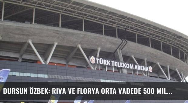 Dursun Özbek: Riva ve Florya Orta Vadede 500 Milyon Dolarlık Gelir Getirecek