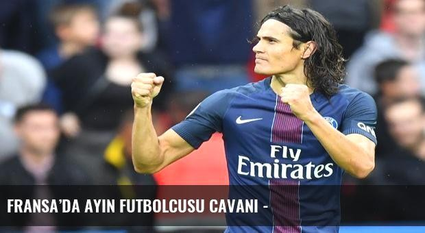 Fransa'da ayın futbolcusu Cavani -