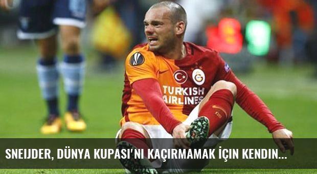 Sneijder, Dünya Kupası'nı Kaçırmamak İçin Kendini Sakatladı