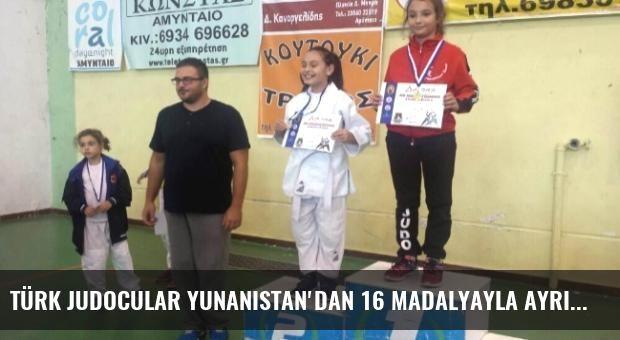 Türk Judocular Yunanistan'dan 16 Madalyayla Ayrıldı