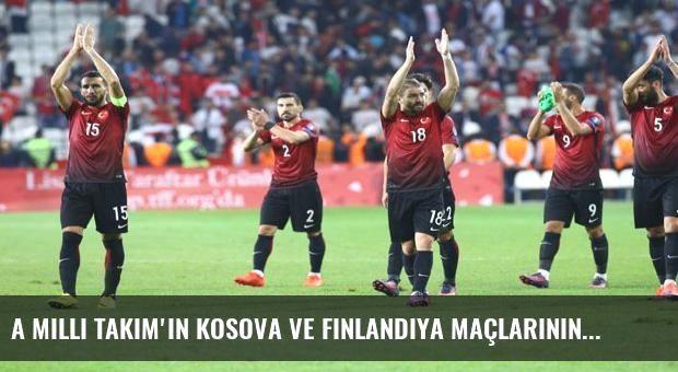A Milli Takım'ın Kosova ve Finlandiya maçlarının saati değişti