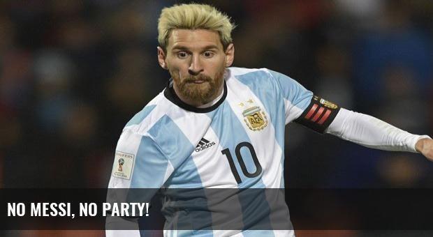 No Messi, no party!