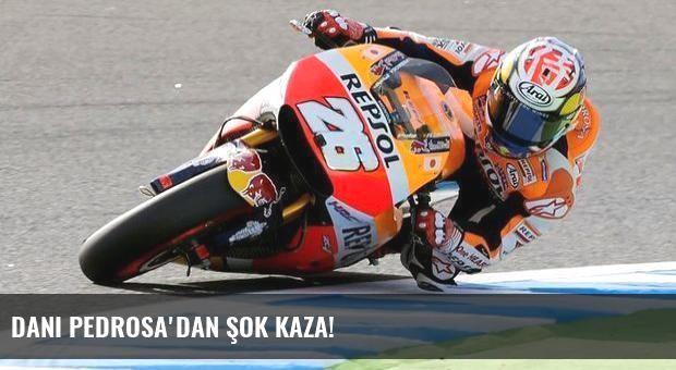 Dani Pedrosa'dan şok kaza!