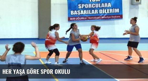 Her yaşa göre spor okulu