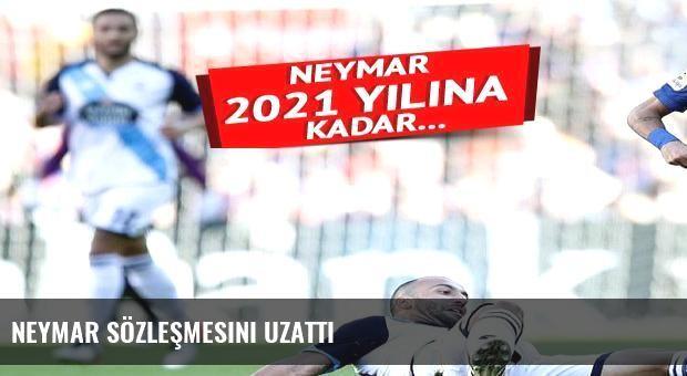 Neymar sözleşmesini uzattı