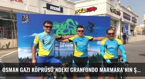 Osman Gazi Köprüsü'ndeki Granfondo Marmara'nın Şampiyonu Tekirdağ'dan