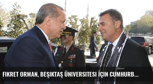 Fikret Orman, Beşiktaş Üniversitesi İçin Cumhurbaşkanı Erdoğan'la Görüştü