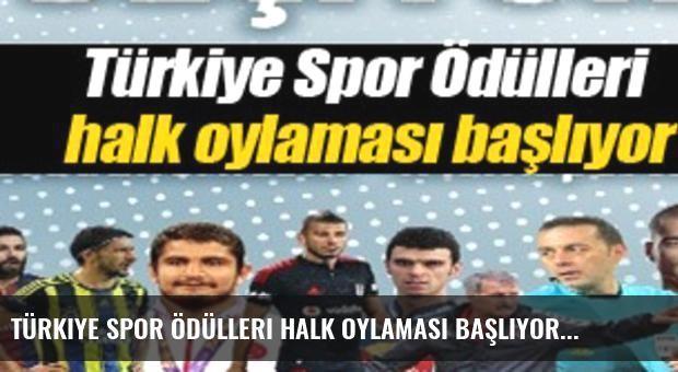 Türkiye Spor Ödülleri halk oylaması başlıyor