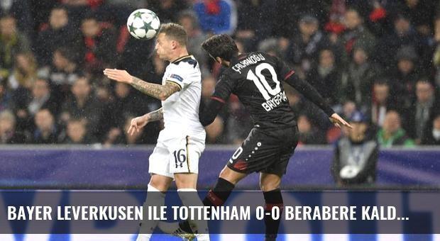 Bayer Leverkusen ile Tottenham 0-0 Berabere Kaldı