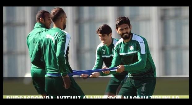 Bursaspor'da Aytemiz Alanyaspor maçı hazırlıkları