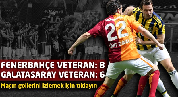 Galatasaray Veteran Takımı 6 - 8 Fenerbahçe Veteran Takımı (Maçın Golleri)