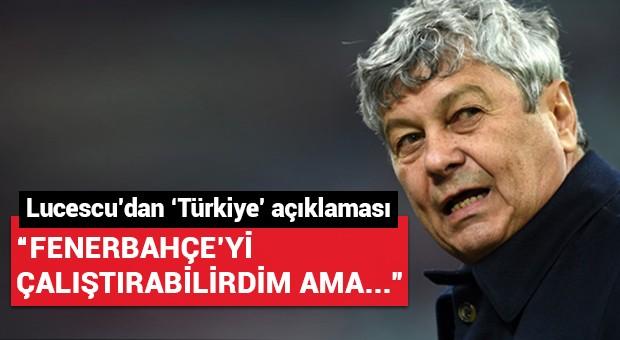 Lucescu açıkladı: 'Fenerbahçe'yi çalıştırabilirdim...'