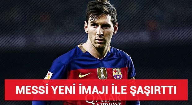 Messi yeni imajı ile şaşırttı!